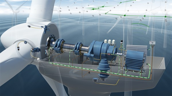 The condition monitoring system features seven acceleration sensors that are installed on the drive of the wind turbine.